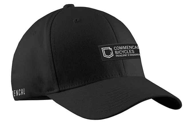 COMMENCAL SHIELD CURVED PEAK CAP BLACK