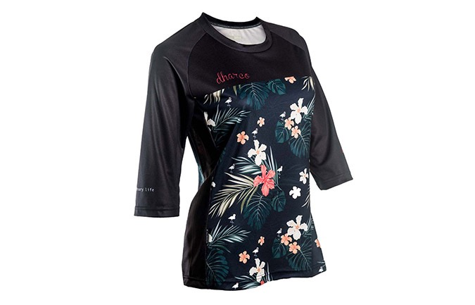 DHARCO LADIES 3/4 SLEEVE- HAWAIIAN FLAMINGO