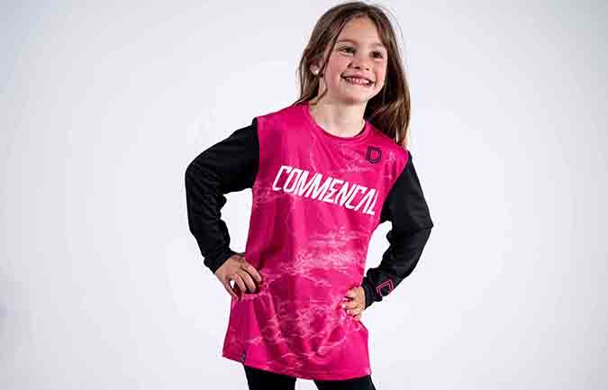 COMMENCAL KID JERSEY PINK