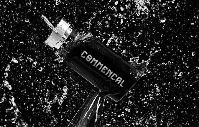 COMMENCAL THERMOS BOTTLE BLACK