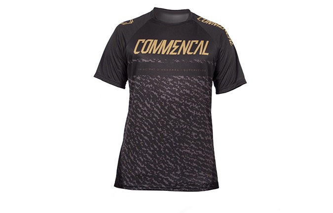 COMMENCAL SHORT SLEEVE JERSEY BLACK/GOLD 2019