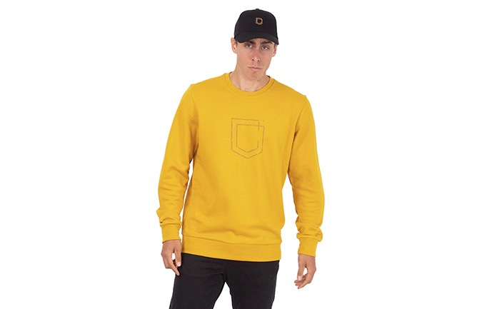 COMMENCAL SHIELD CREWNECK MUSTARD