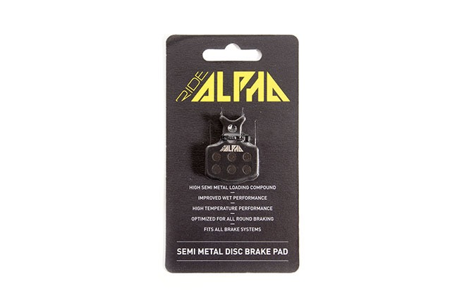 RIDE ALPHA SEMI-METAL BRAKE PADS FOR AVID CODE R