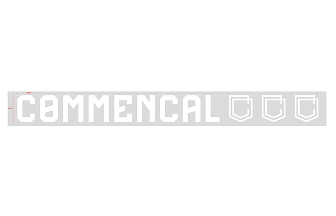 COMMENCAL TRADITIONAL STICKER 70CM WHITE