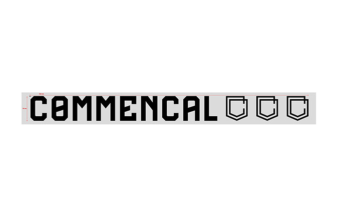 COMMENCAL TRADITIONAL STICKER 30CM BLACK
