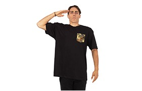 BASIC T-SHIRT BLACK/CAMO